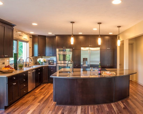 Horseshoe Kitchen Home Design Ideas Pictures Remodel And