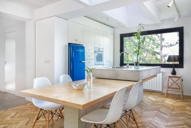 Soluzioni d arredo illuminate di design la cucina e il soggiorno