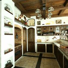 Rustic Kitchen by Yakusha Design