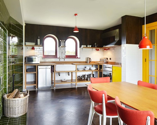 Design Ideas For A Medium Sized Eclectic Single Wall Kitchen Diner In Essex With