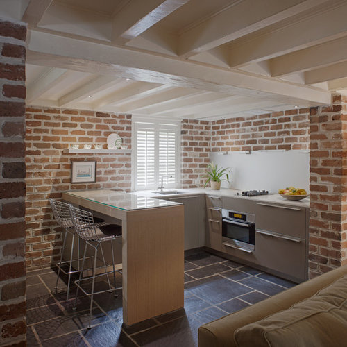 Exposed Brick Kitchen Houzz