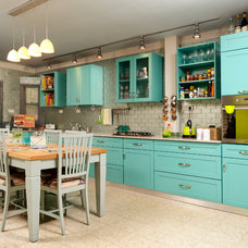 Eclectic Kitchen by Tammy Bronfen Interior Design and Color