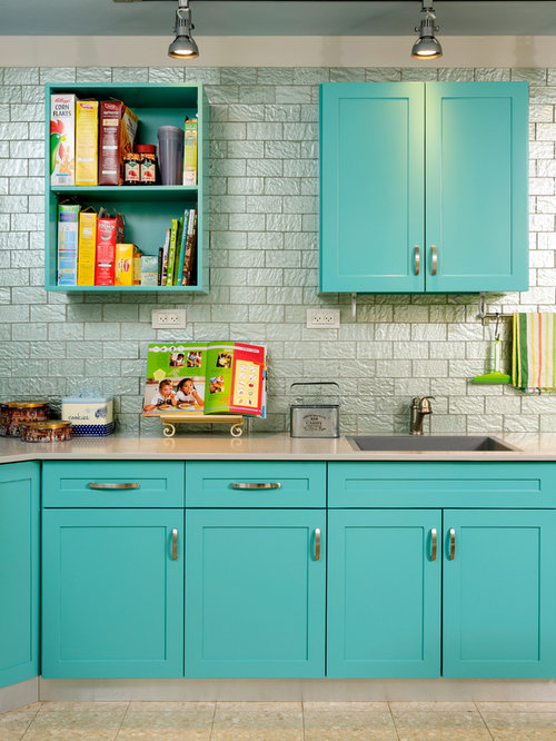 Turquoise Cabinets Home Design Ideas Pictures Remodel