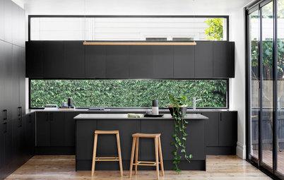 12 idées de crédences pour sublimer les cuisines noires