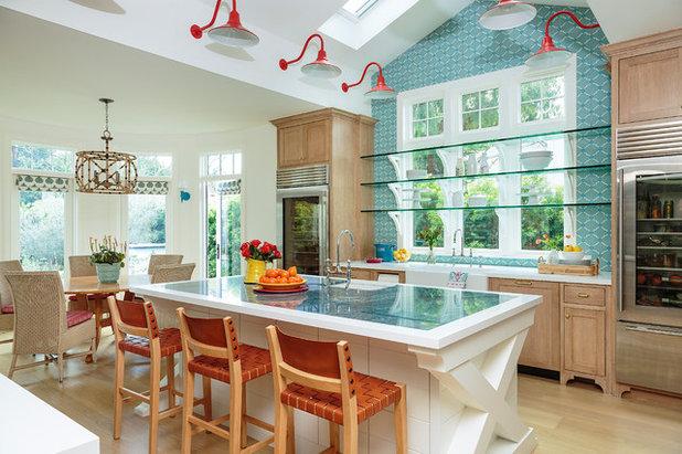 Beach Style Kitchen by Alison Kandler Interior Design