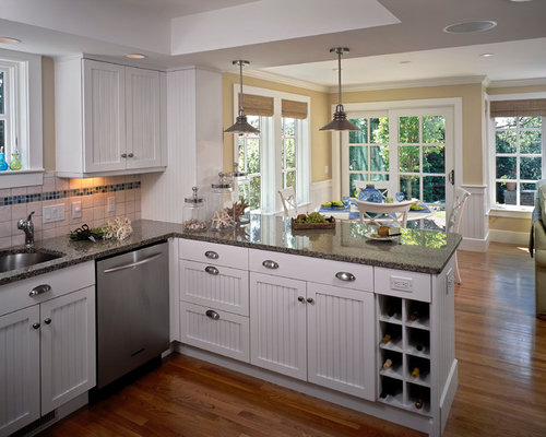 Kitchen peninsula home design ideas pictures remodel and for Peninsula kitchen designs