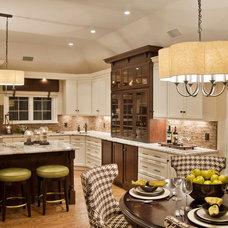 Beach Style Kitchen by Kim E Courtney Interiors & Design Inc