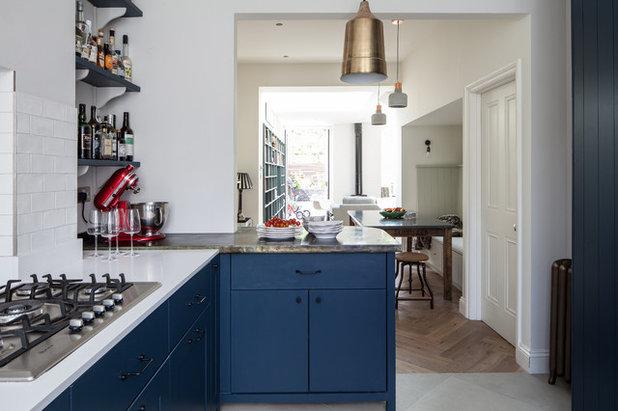 Transitional Kitchen by Trevor Brown Architect