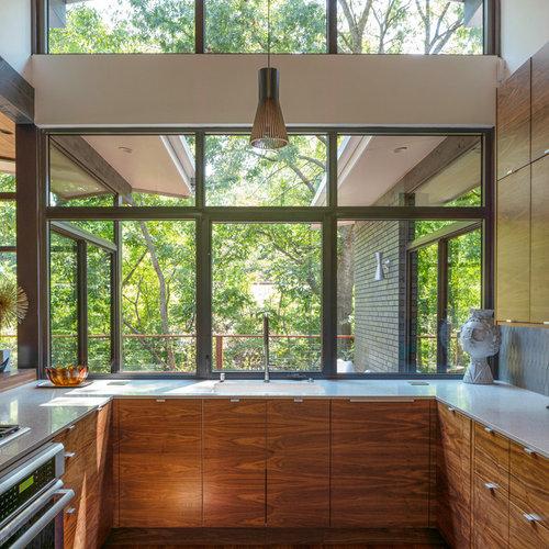 Küchen mit Rückwand-Fenster in Dallas Ideen, Design & Bilder ...