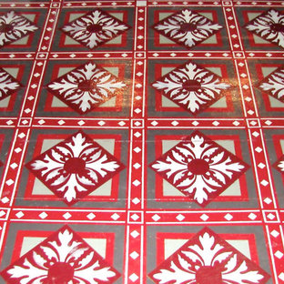 Housefox Design - Stenciled floor with lots of detail.