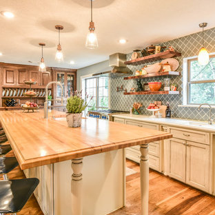 Houston Kitchen Redesign - Transitional Style With Antiques