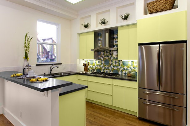 Palatable palettes 8 great kitchen color schemes for Contemporary kitchen colours