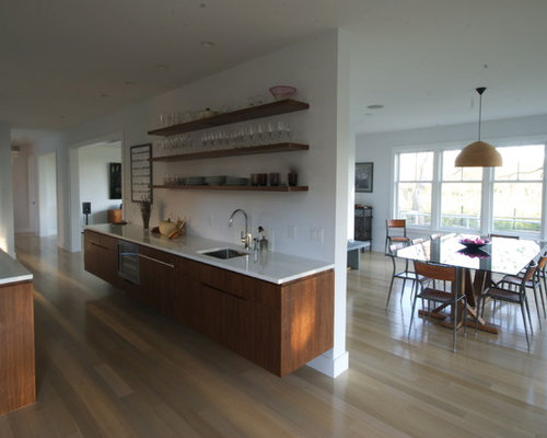 Pickled white oak cabinets houzz for White pickled kitchen cabinets