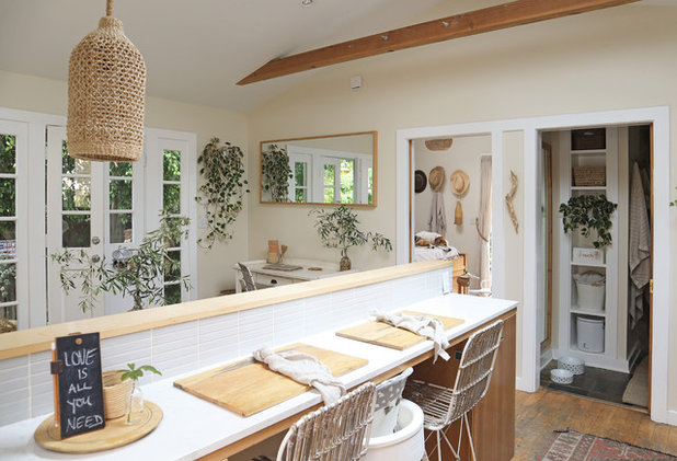 Kitchen by The Tiny Canal Cottage
