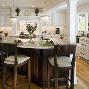 Traditional kitchen ideas - Inspiration for a timeless kitchen remodel in Baltimore with a farmhouse sink