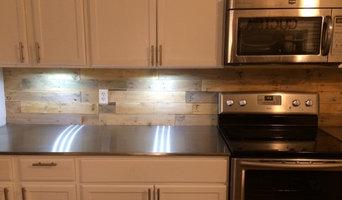 Howell's custom stainless steel countertops