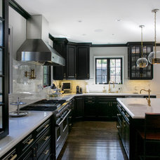 Transitional Kitchen by Jessica Claire Photography, Inc