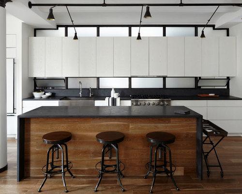 Oak Cabinets Black Countertops Houzz