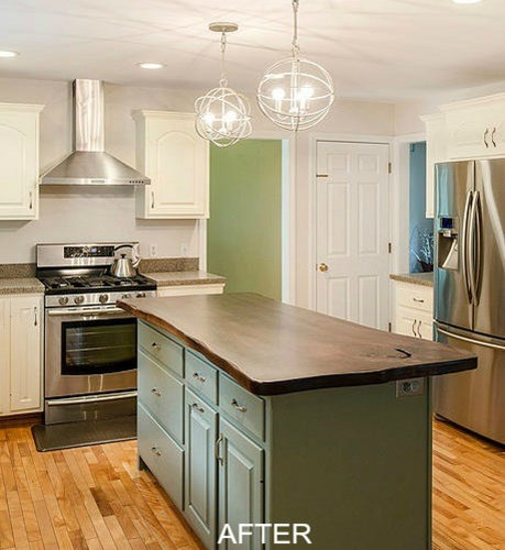 Kitchen Staging Before And After: Before & After