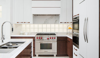 Huntington Beach Kitchen with White and Walnut Cabinets