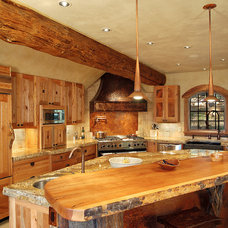 Traditional Kitchen by Sitka Log Homes