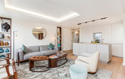 Houzz Tour: 2-Bedroom Apartment Gets a Clever Open-Plan Layout