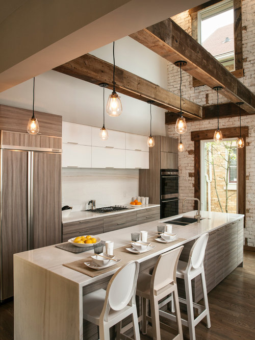 Industrial Kitchen Design Ideas Renovations Photos With Integrated Appliances