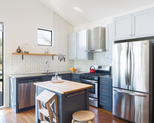 k chen mit k chenr ckwand aus metrofliesen und speckstein arbeitsplatte ideen bilder. Black Bedroom Furniture Sets. Home Design Ideas