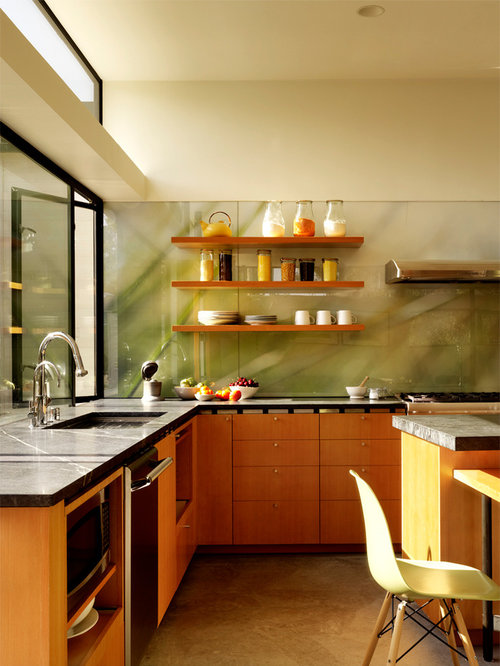 Tempered Glass Backsplash | Houzz