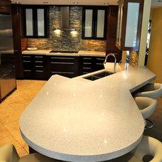 Contemporary Kitchen by Hampson Design Construction, Inc.