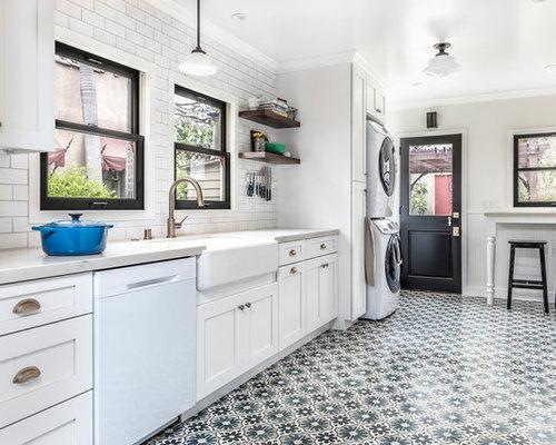 Cucina in campagna con pavimento con cementine foto e idee per