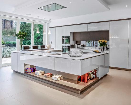 high gloss kitchens | houzz