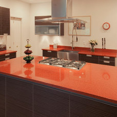 Contemporary Kitchen IceStone Counters