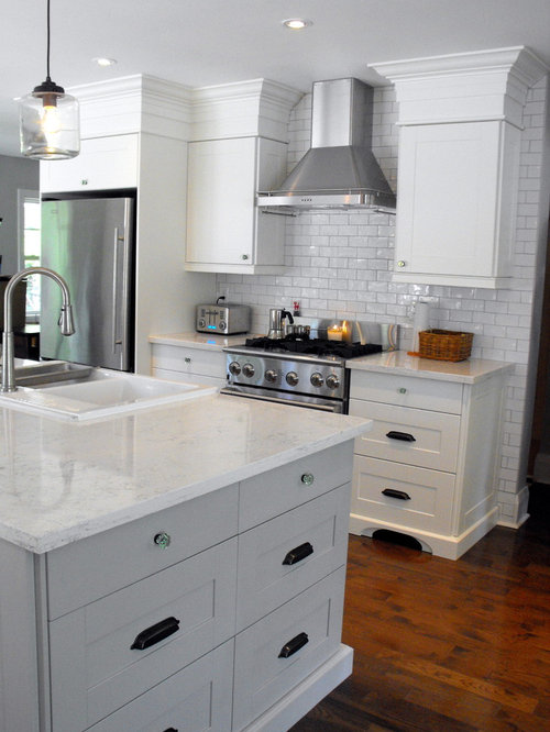 Ikea adel white houzz for Adel kitchen cabinets