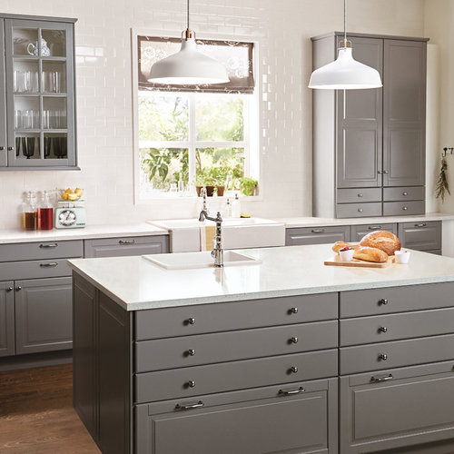Houzz Off White Kitchen Cabinets: Best Bodbyn Gray Design Ideas & Remodel Pictures