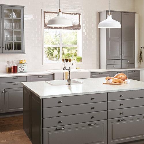 Kitchen Cabinet Ideas Houzz: Best Bodbyn Gray Design Ideas & Remodel Pictures