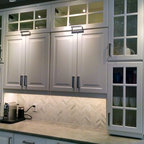 IKEA Kitchens - Lidingo Gray and White with Stacked Wall ...