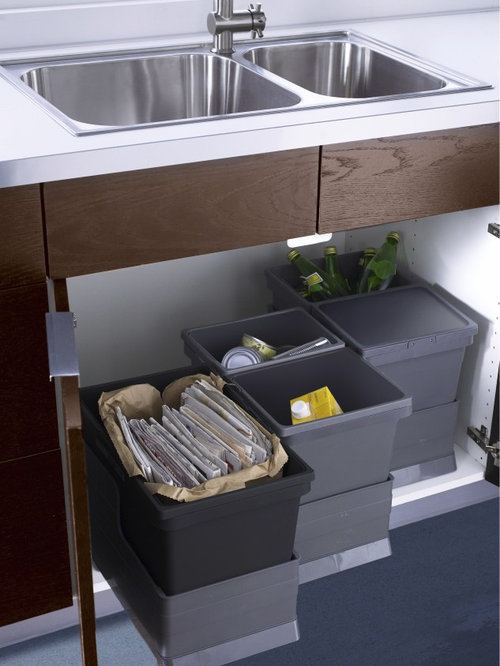 Ikea trash pullout home design ideas pictures remodel and decor - Ikea pull out trash bin ...