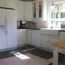 Transitional Kitchen by JM Studio
