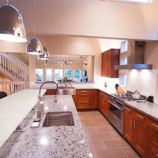 IKEA Kitchen remodel with eco-glass countertops