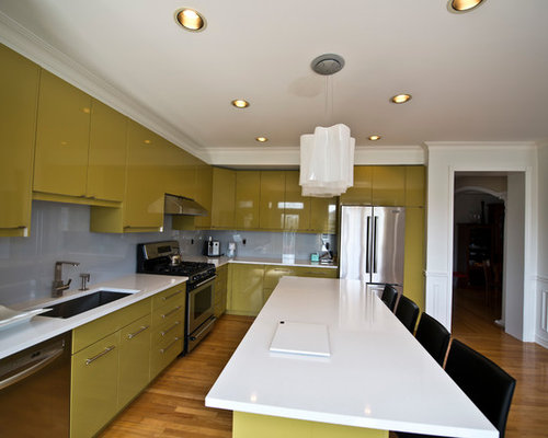 Olive kitchen design ideas remodels photos with glass - Olive green kitchen ideas ...