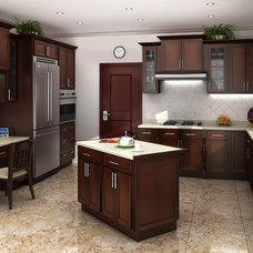 Contemporary Kitchen Cabinets by LowPriceKitchens.com