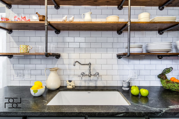 Transitional Kitchen by Illinois Granite & Marble Ltd.
