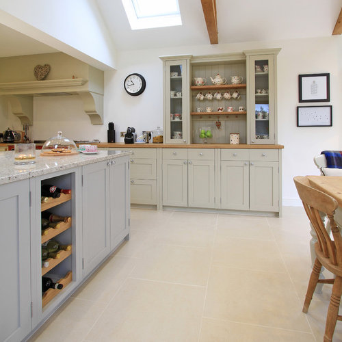 In-Frame Painted Shaker Kitchen In Pavilion Grey & Old White