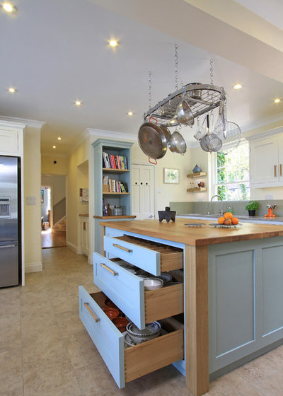 British Colonial Kitchen by Beau-Port Kitchens & Interiors