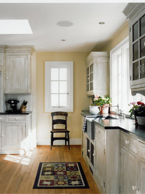 Whitewashed Cabinets Photos