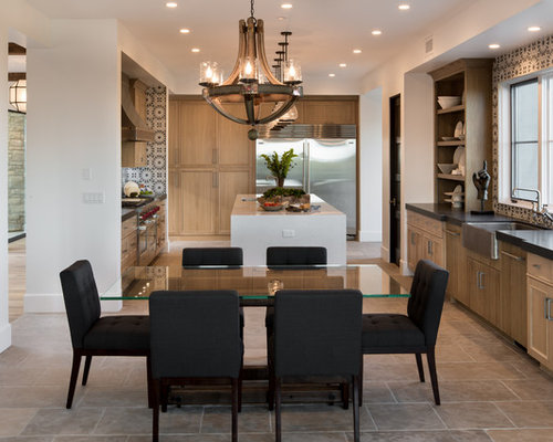 Open kitchen to dining room houzz for Dining room sink designs