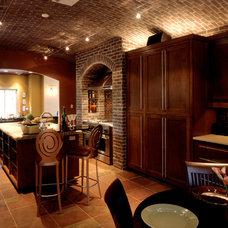 Mediterranean Kitchen by Venture Four Architects