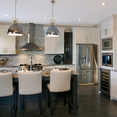 Transitional Kitchen by Huntwood Custom Cabinets
