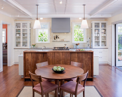 glass kitchen cabinets | houzz